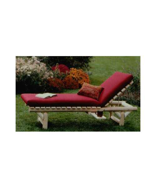 White Cedar Log Chaise
