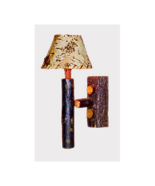 Old Hickory Rocky Mtn. Single Sconce With Birch Shade