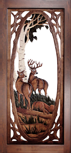 Deer Family Screen Door