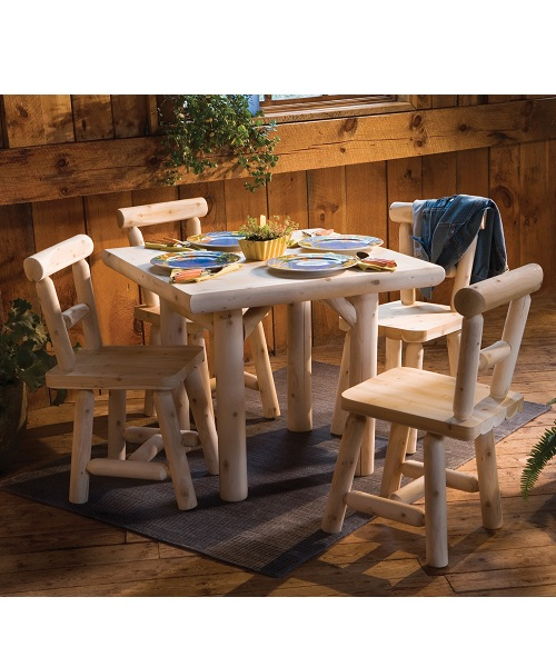Square Cedar Dining Set