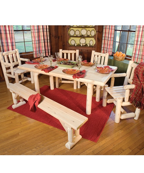 Rectangular Cedar Dining Set