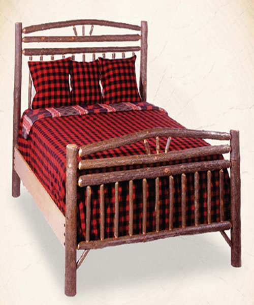 Hickory Wagon Wheel Bed