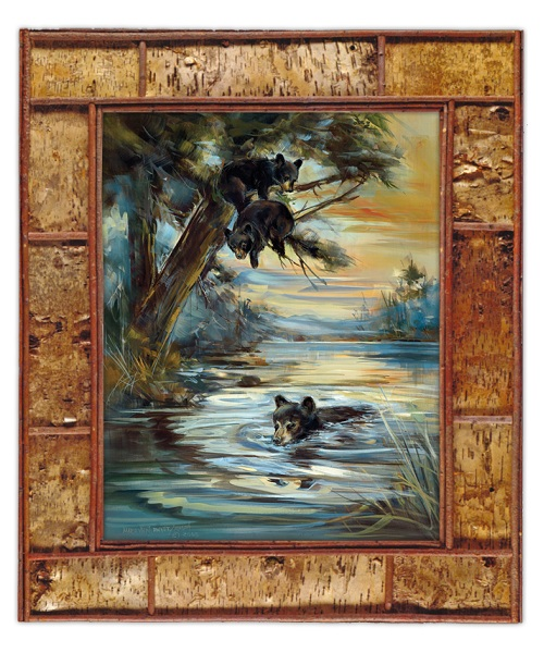 "Fine Art Giclee ""A Swim at the Pond"""