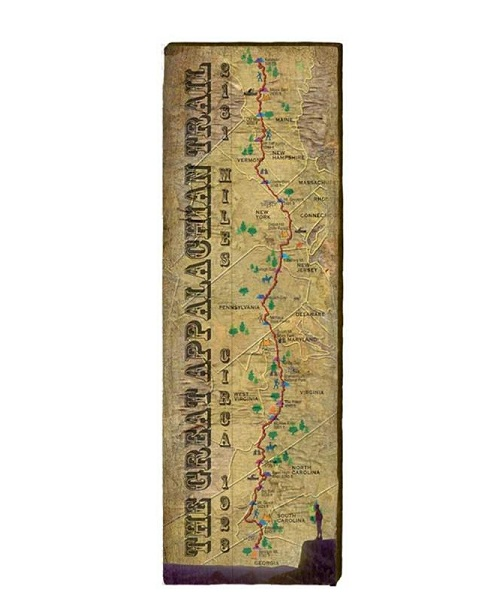 Appalachian Trail Map Wall Art