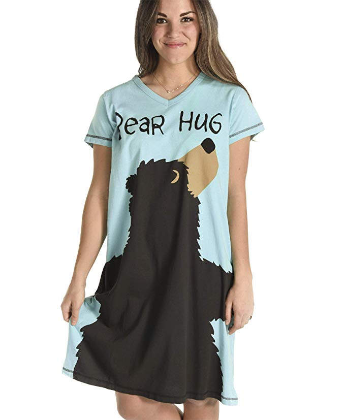 Women's Nightshirt - Bear Hug (blue)
