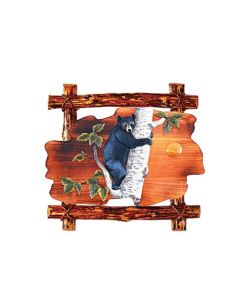 Intarsia Wood Art- Bear Cub