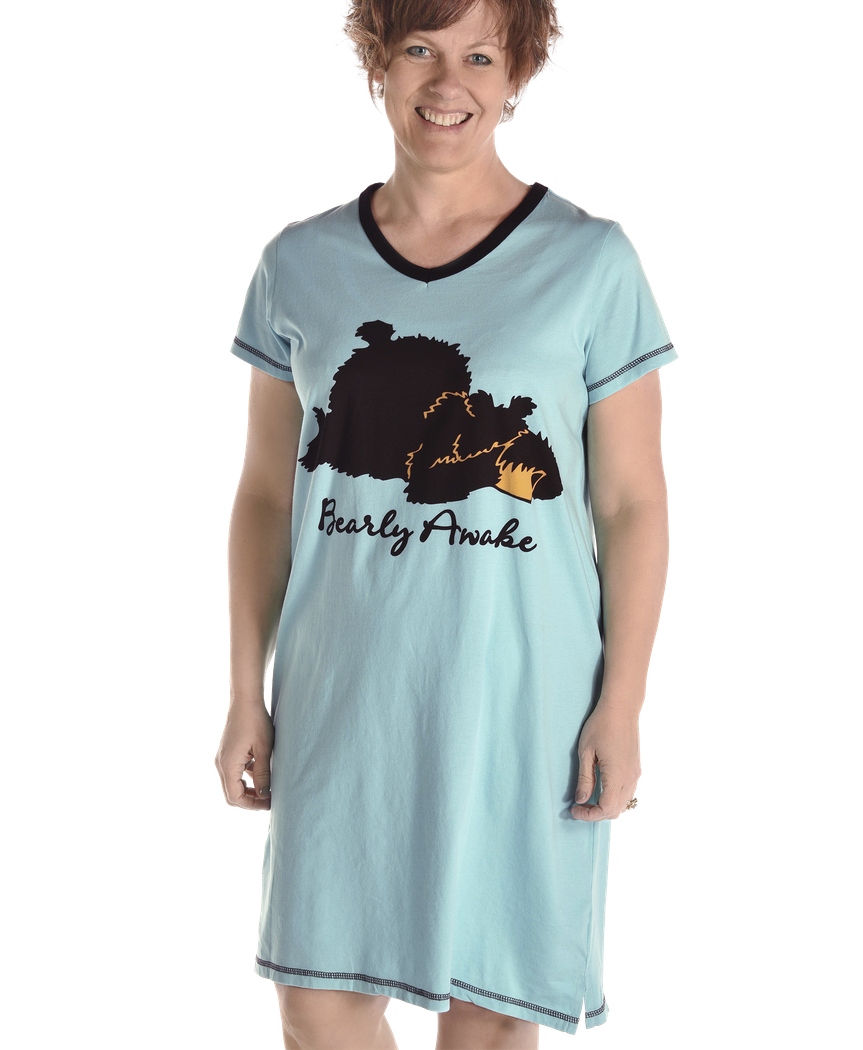 Women's Nightshirt - BEARly Awake