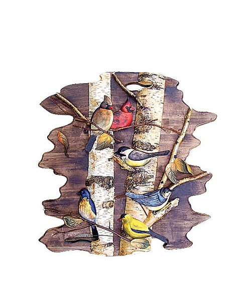 Intarsia Wood Art- Songbirds