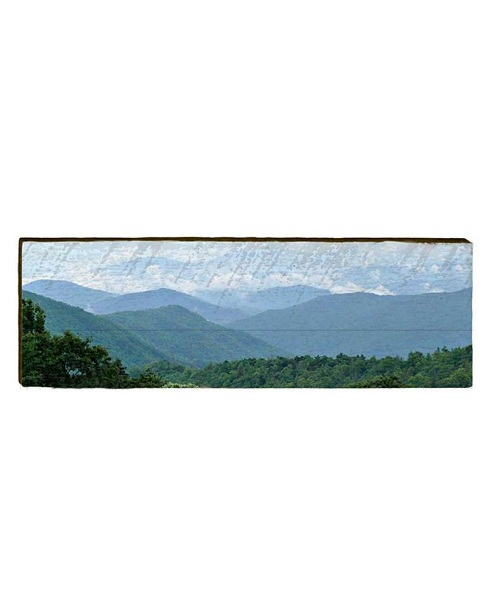 Blue Ridge Mountains Wooden Wall Art