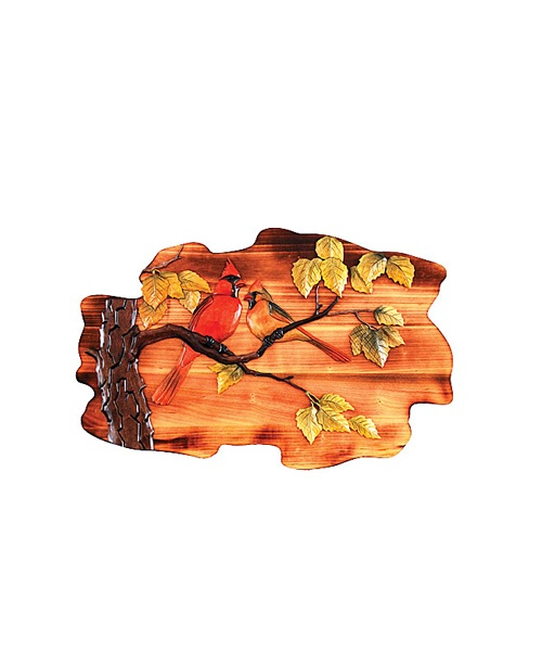 Intarsia Wood Art- Cardinals