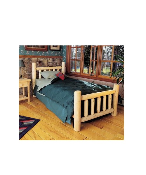 White Cedar Classic Log Bed