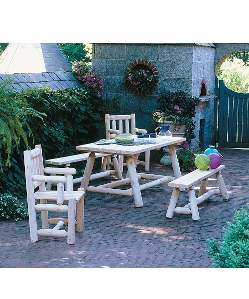 Cedar Farmers Table Set