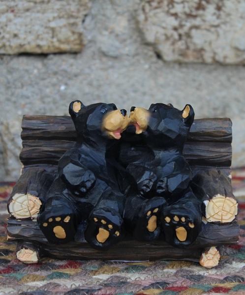Bears on Couch Figurine