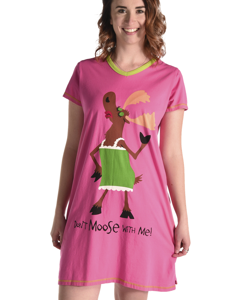 Women's Nightshirt - Don't MOOSE With Me