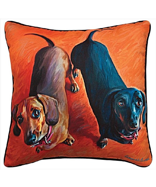 Double Dachshund Pillow