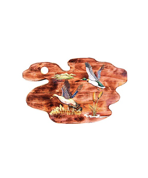 Intarsia Wood Art- Flying Ducks