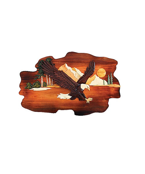 Intarsia Wood Art- Flying Eagle