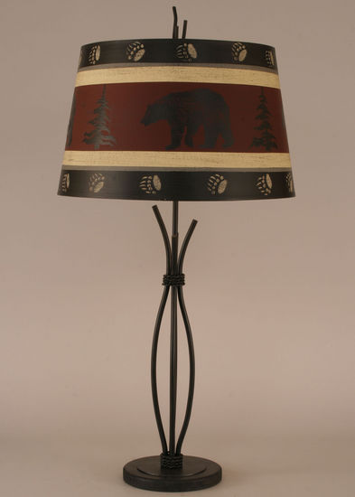 Iron Stack Bear Shade Lamp