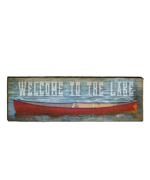 Welcome to the Lake Wooden Sign