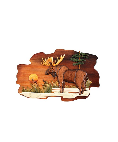 Intarsia Wood Art- Moose
