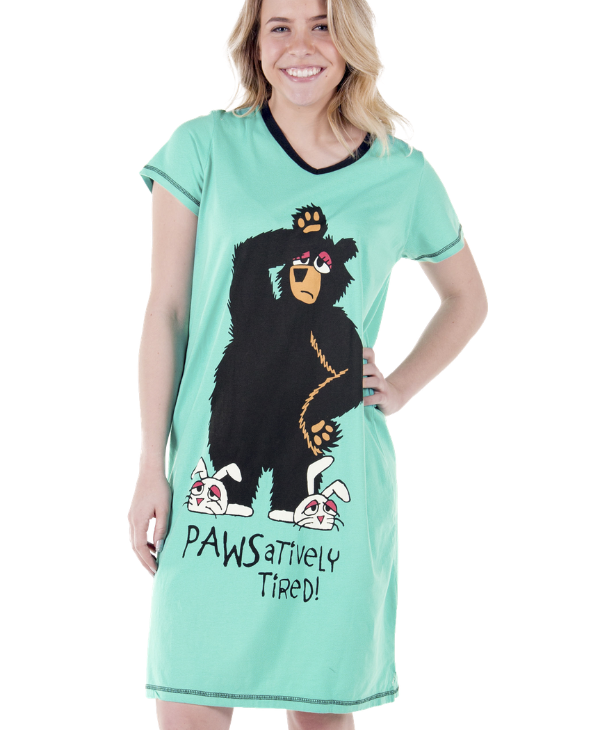 Women's Nightshirt - PAWSatively Tired