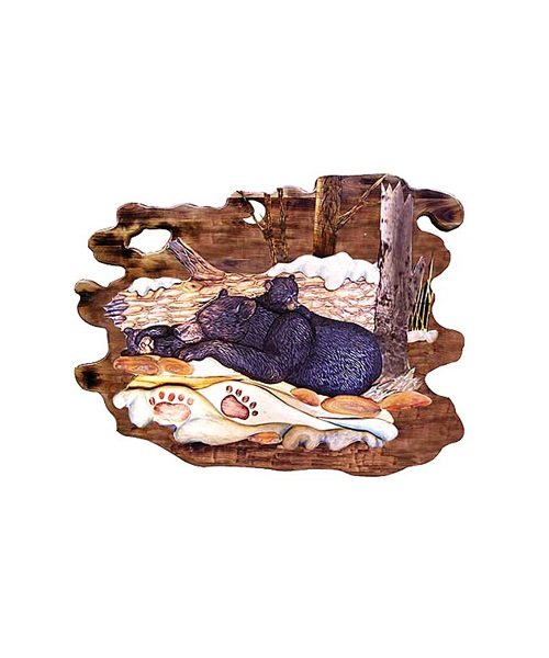 Intarsia Wood Art- Sleeping Bear