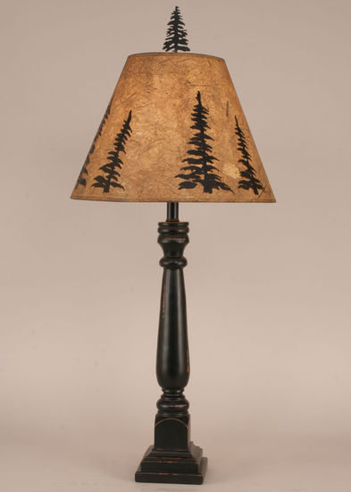 Buffet Lamp with Tree Shade