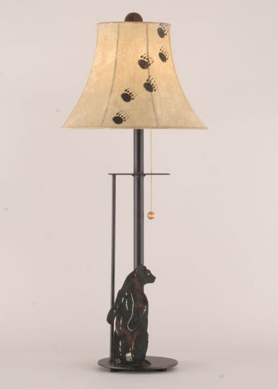 Standing Bear Buffet Lamp