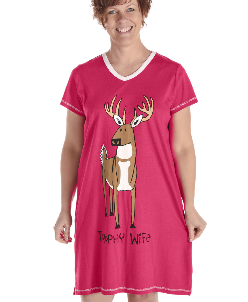 Women's Nightshirt - Trophy Wife