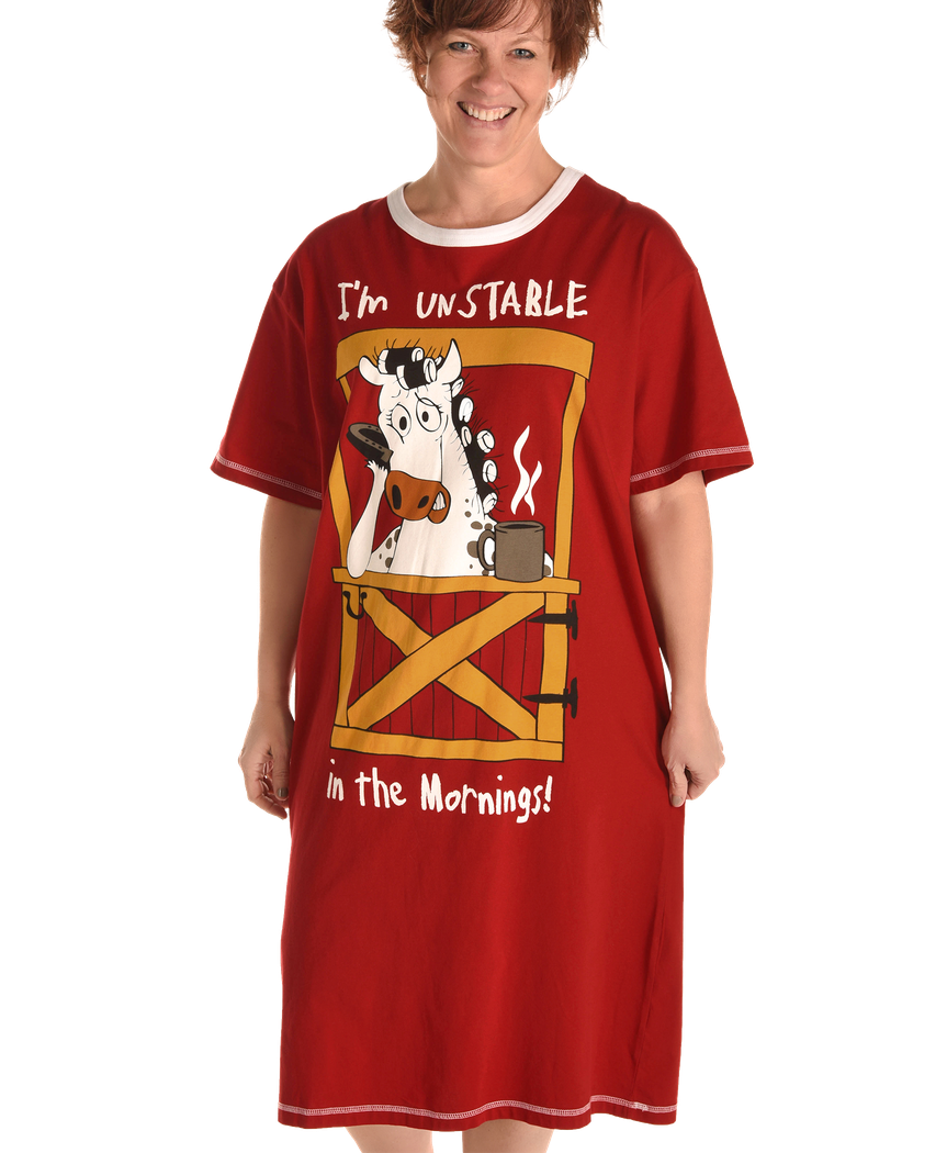 Women's Nightshirt - Unstable In The Morning