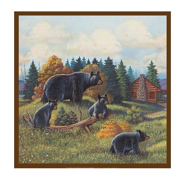 shower curtain black bear