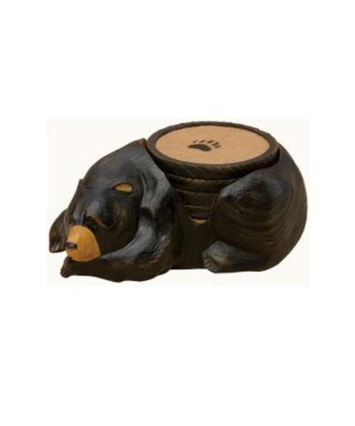 Black Bear Coaster Set