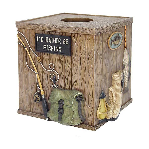 Gone Fishing Tissue Box Cover