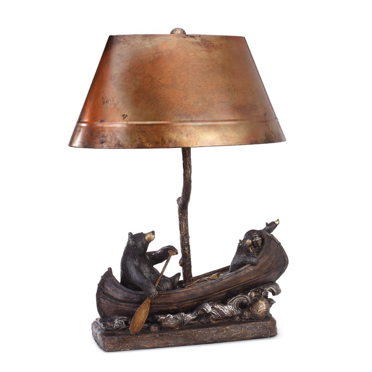 Canoe Trip Copper Lamp