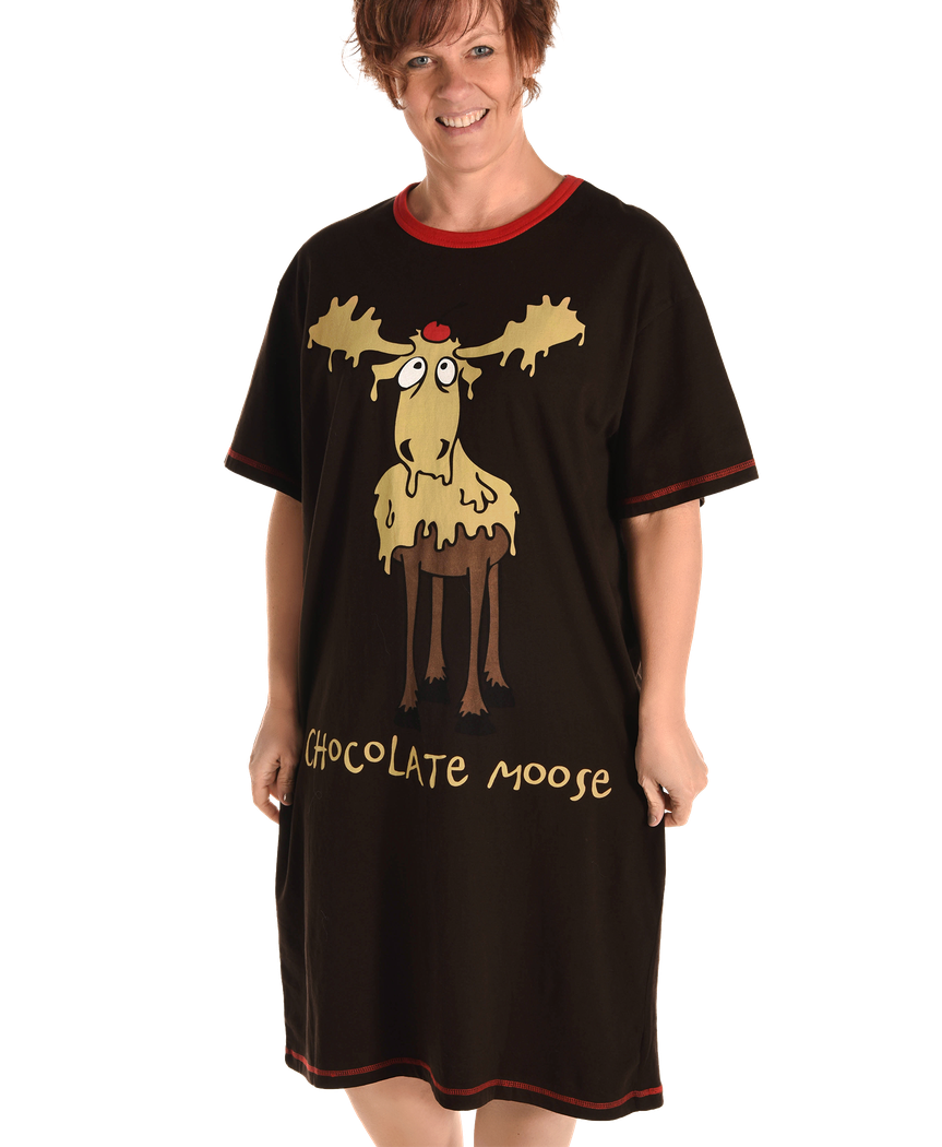 Women's Nightshirt - Chocolate MOOSE