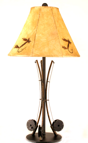 Triple Fly Rod Table Lamp