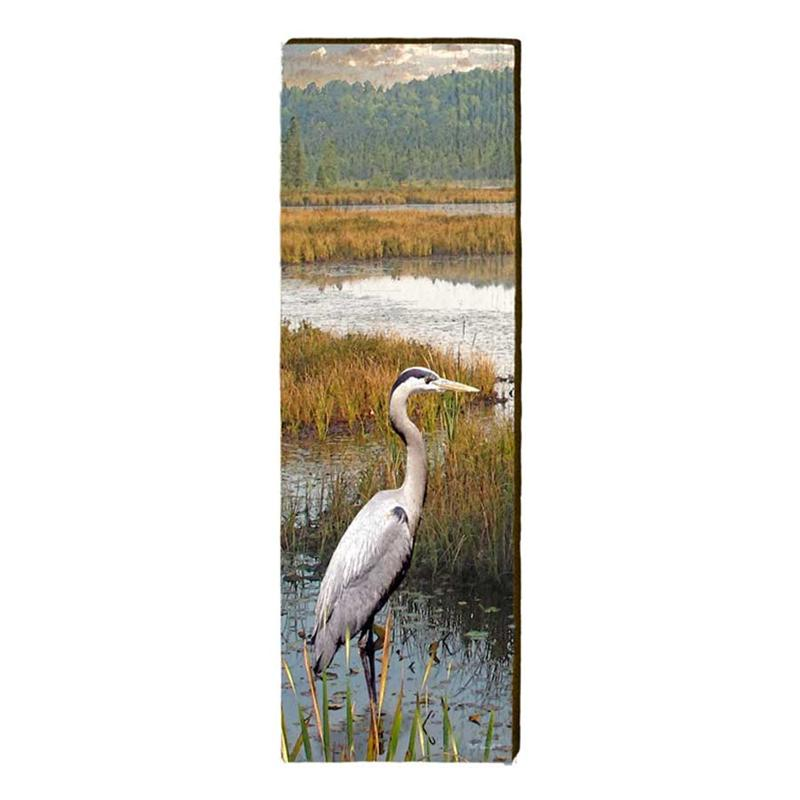 Heron on Lake Wall Art