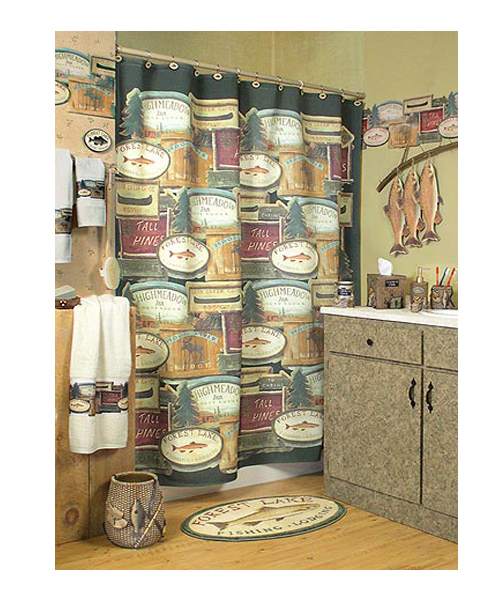 Shower Curtain - Gone Fishing