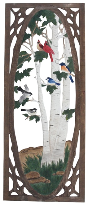 Bird And Birch Screen Door