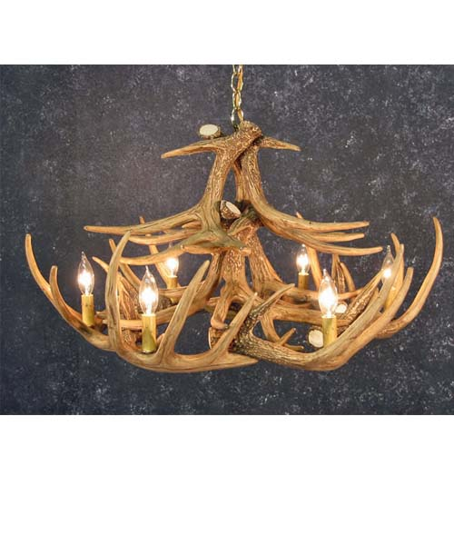 Whitetail 12 Antler Chandelier