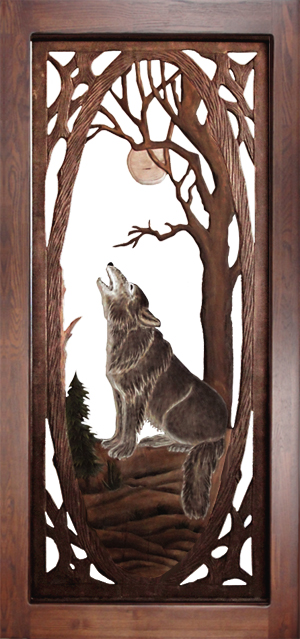 Wolf Screen Door